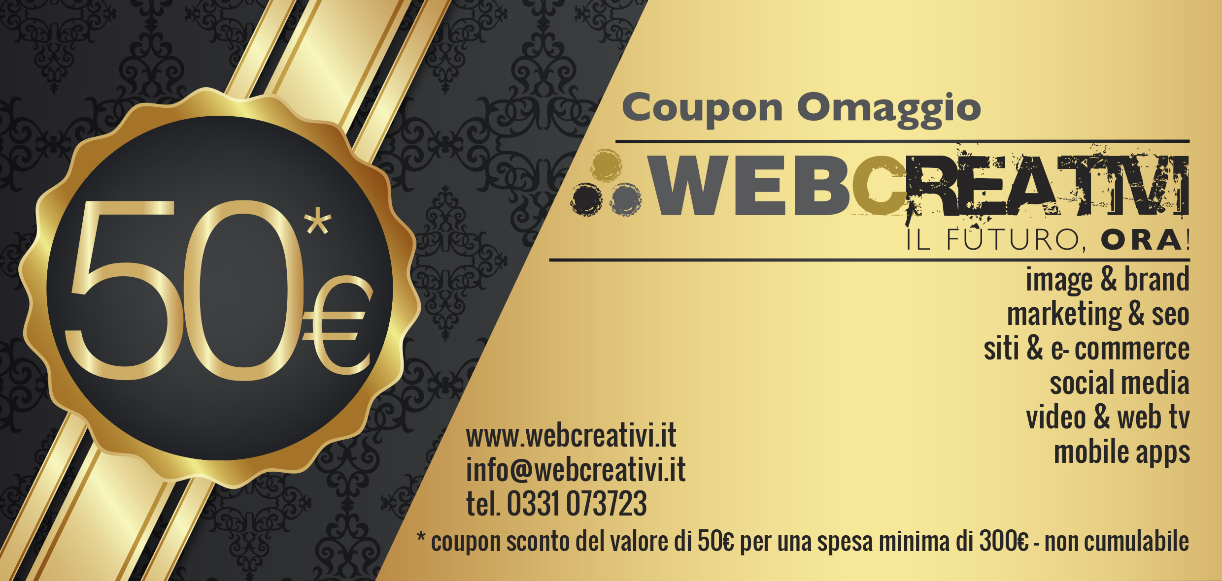 coupon 50 web creativi